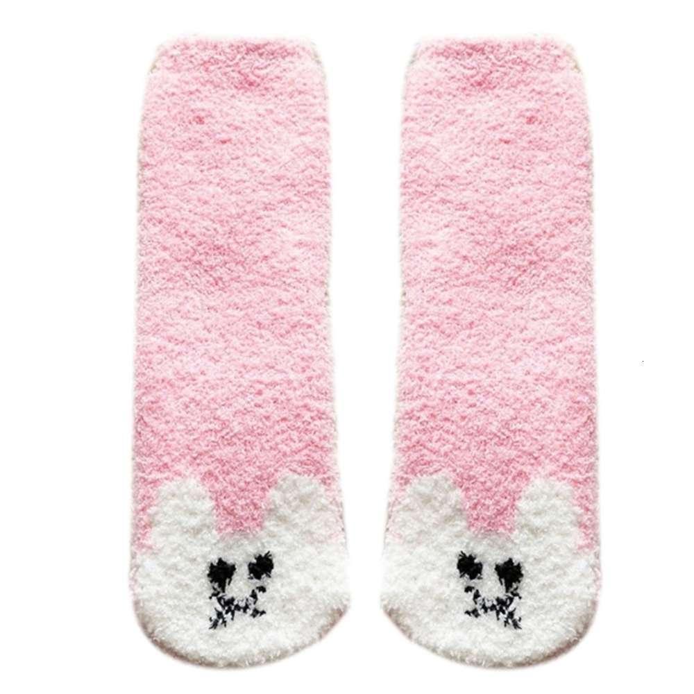 Chaussettes femmes hiver doux ffy peluche peluche peluche souche sos doux coloré dessin animé animal flou microfibre dormant chaleureux hosiery