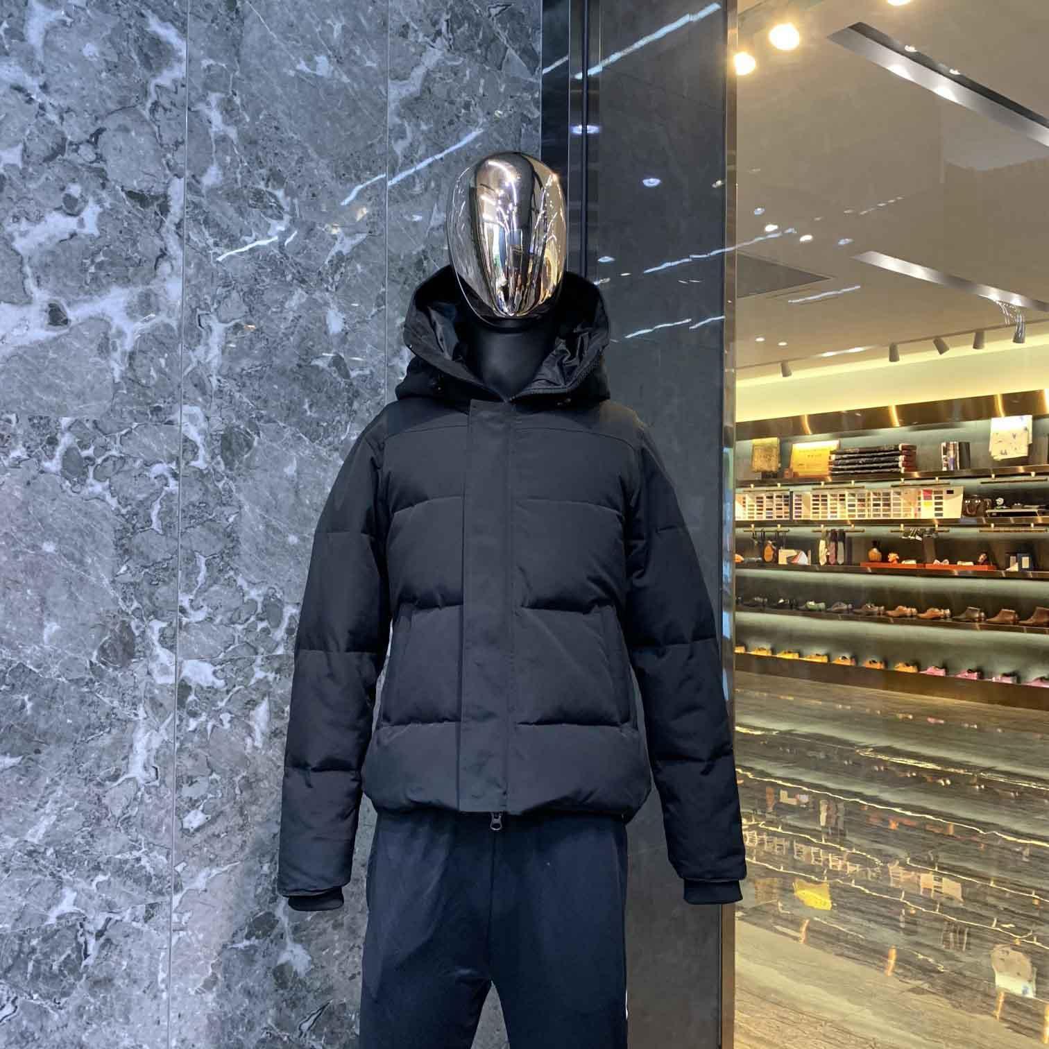 Kış aşağı ceket rüzgar geçirmez su geçirmez sıcak ceket gerçek kaz yüksek kaliteli parka satış kapüşonlu moda erkek tarzı