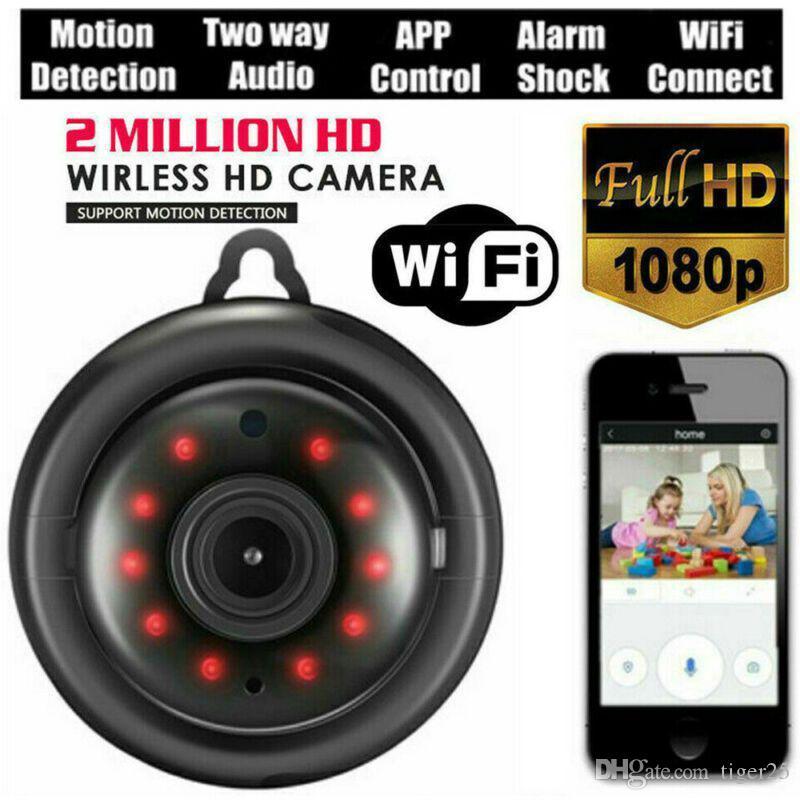Mini WIFI sem fio IP Câmera HD 1080P Smart Family Security Night Vision At Attiny Alerta câmeras para casa / gatos / animais de estimação / nuvem