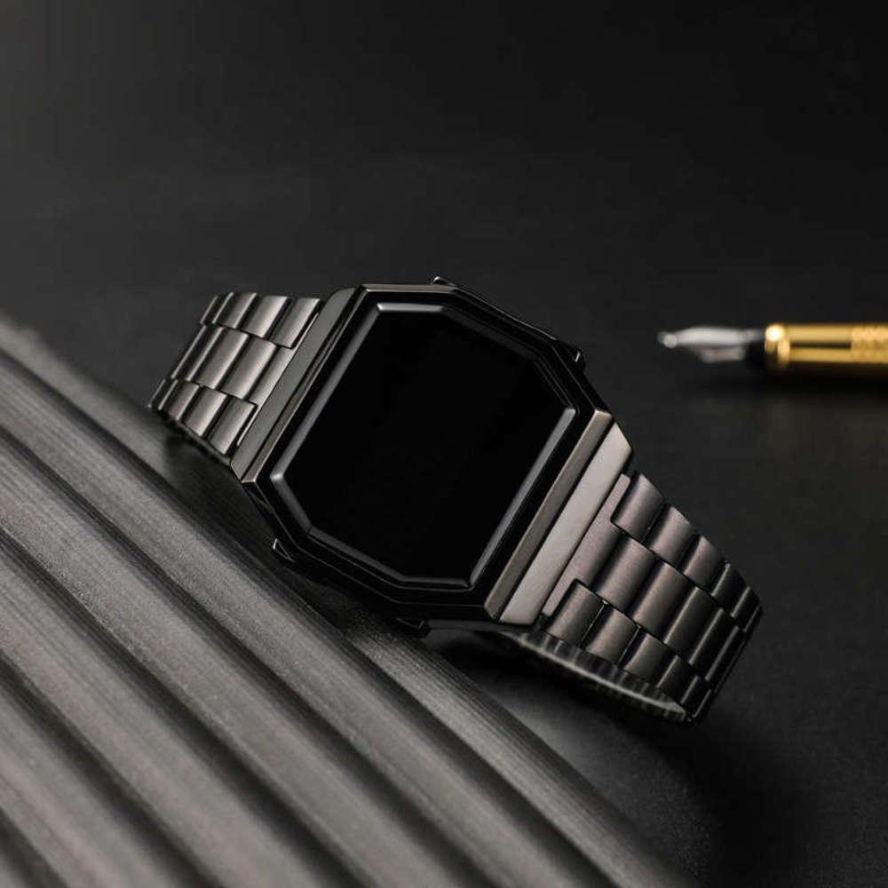 Creative Trend Square Rose Gold Comanche Часы Женщины и Мужчины Любители электронные Часы завод