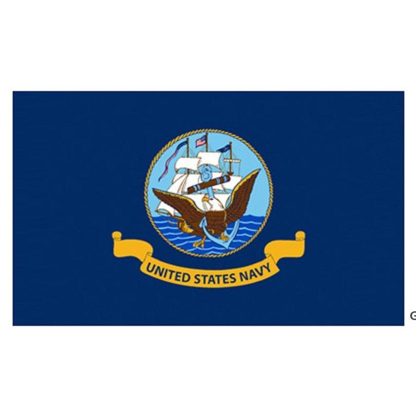 Direkte Fabrik Großhandel 90 * 150 cm 3x5 fts Military Armee US Navy Symbol American Navy Flag für Dekoration DHD5724