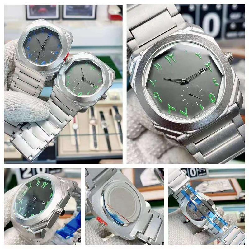 Relojes Hombre 2021-New Watches Men 럭셔리 브랜드 크로노 그래프 남성 스포츠 시계 방수 스테인레스 스틸 쿼츠 시계