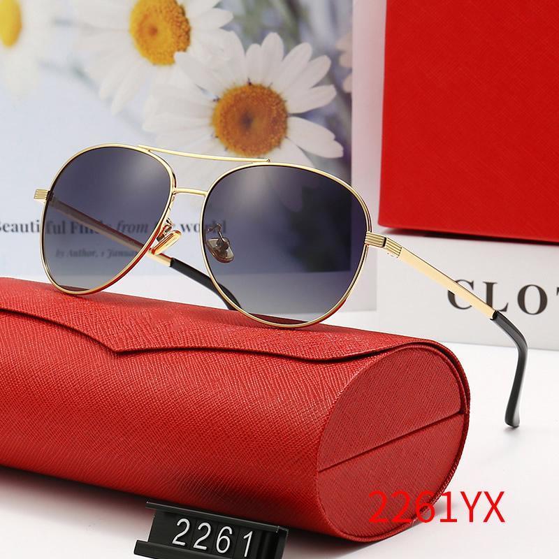 여성을위한 클래식 디자이너 브랜드 선글라스 여름 야외 샌디 비치 증거 그늘 태양 안경 안경 장면 상자 케이스 천으로 검은 갈색 안경 # 2261