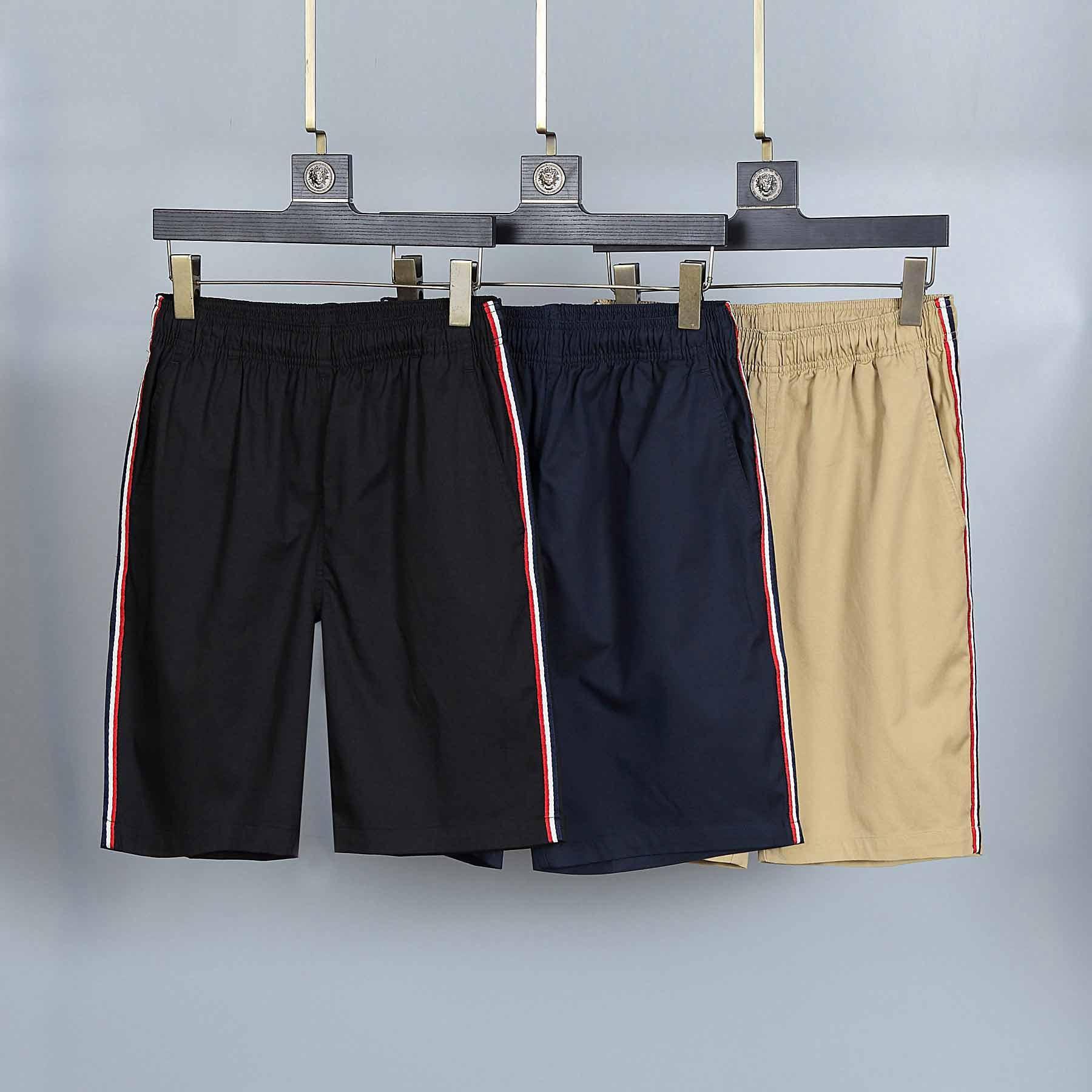 2021 Monclair Mens Shorts Designer de Luxo Esporte Verão Moda Curta Marca Tendência Pura Algodão Respirável Lapela de Roupas Curtas