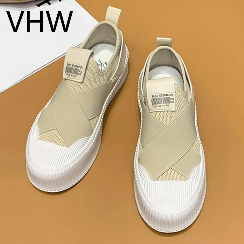 2021 الربيع الصيف المرأة البيج رياضة الأزياء منصة قماش أحذية مريحة الشقق عارضة في الهواء الطلق المشي الأحذية النسائية