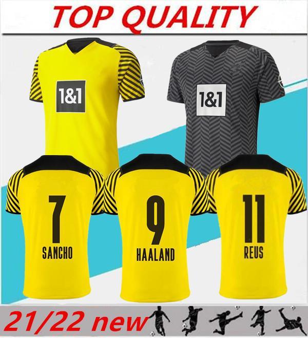 2020 2021 HAALAND Borussia Dortmund domicile maillots de football 20-21 SANCHO HAZARD REUS maillot de football BVB camiseta de futbol maillot maillots de football