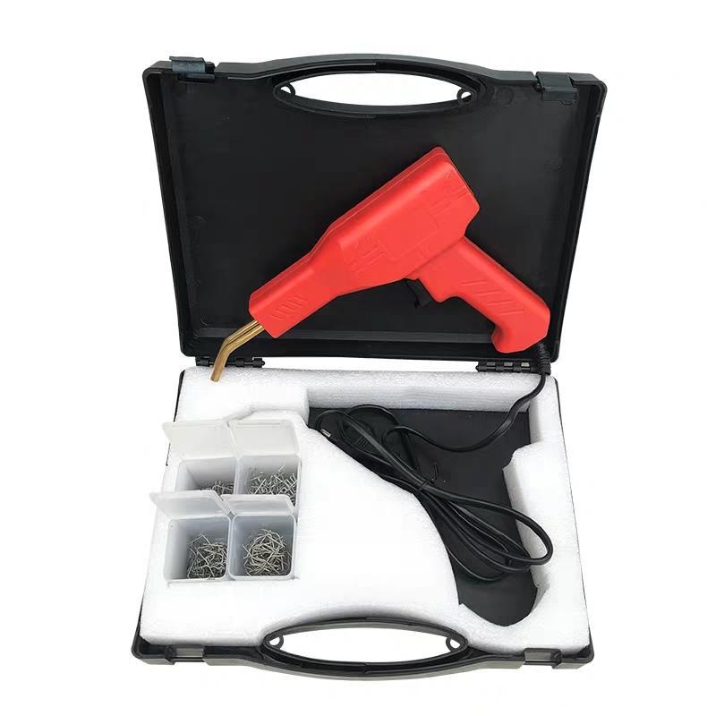 سيارة عالمية فرونج الوفير لحام آلة لحام الحديد لوحة بلاستيكية إصلاح إصلاح التدفئة لحام الكراك فلوش فلوش مسمار بندقية مع دبابيس