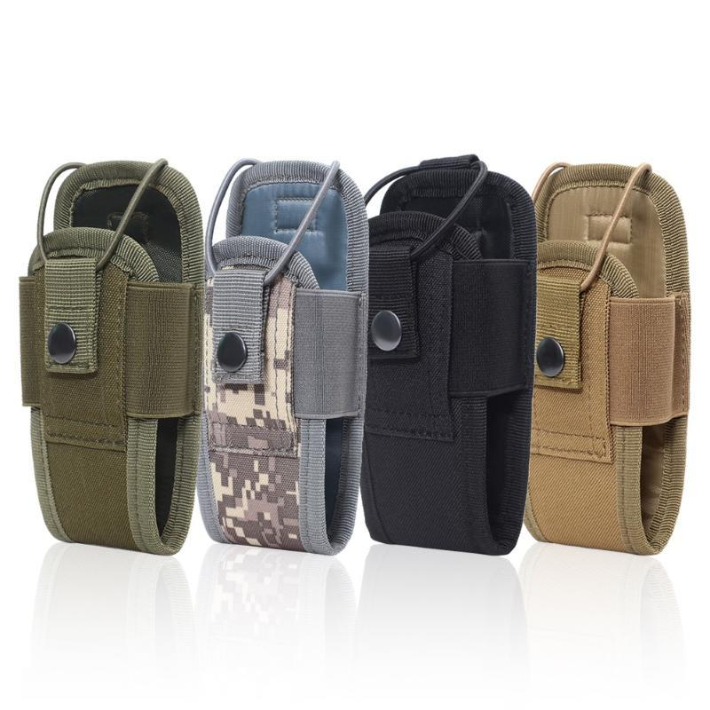 Stuff Sacks Tactical Molle Radio Pouch Military Walkie Talkies Holster Bag Waist Holder Pocket Interphone Carry For Hunting