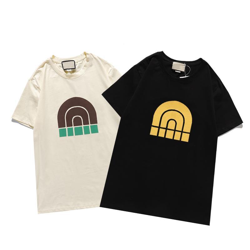 Moda casual t shirts verano hombre mujer camiseta impresión ropa calle desgaste de la tripulación cuello corto manga corta tees 2 Color superior de calidad