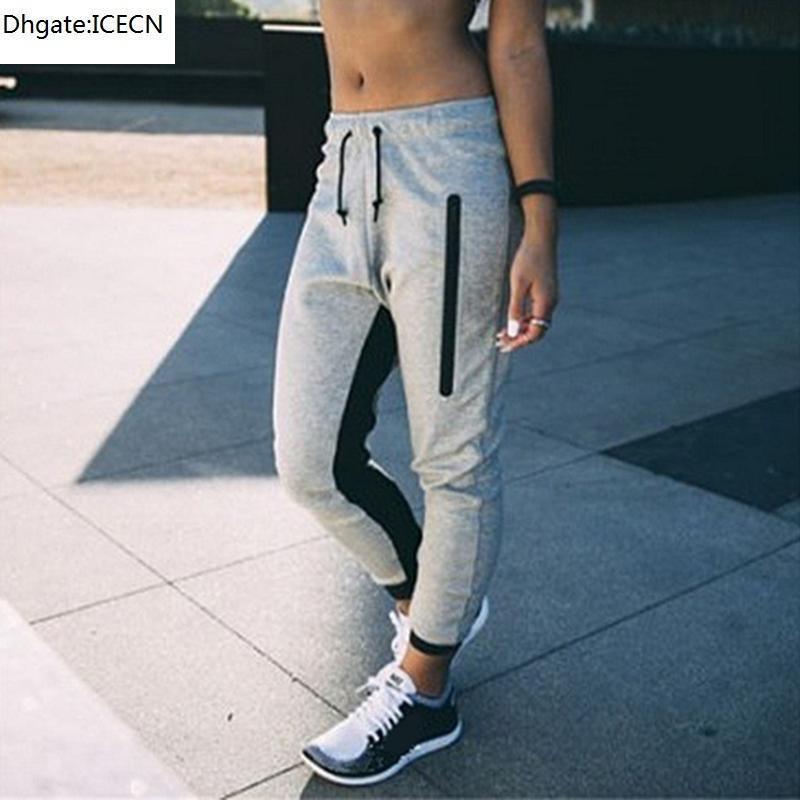 Moda Bayan Sportwear Rahat Bayanlar Joggers Eşofman Dipleri Pantolon Ter Pantolon Gri