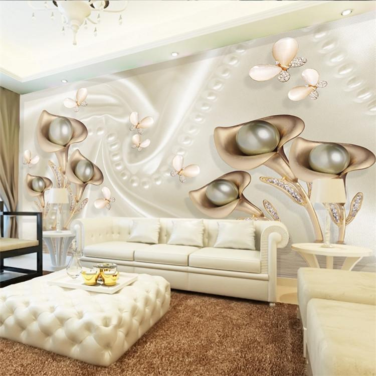 Wallpapers Custom Po Wallpaper 3D Mural Cool Metal Taste Jewelery TV Background Wall Paper Papel De Parede