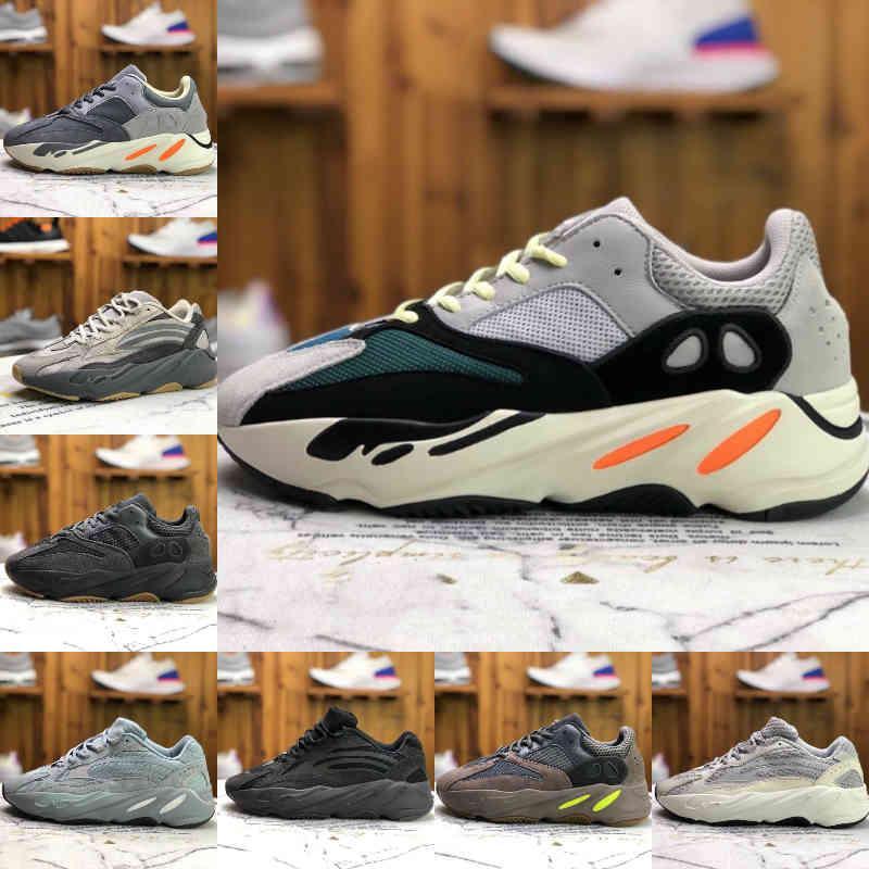 700 Kanye Koşu Ayakkabıları Batı Vanta Mens 700s V2 V3 Ataltia Katı Gri Alvah Azael 3 M Dalga Yansıtıcı Runner Alien Lüks Tasarımcı Sneakers
