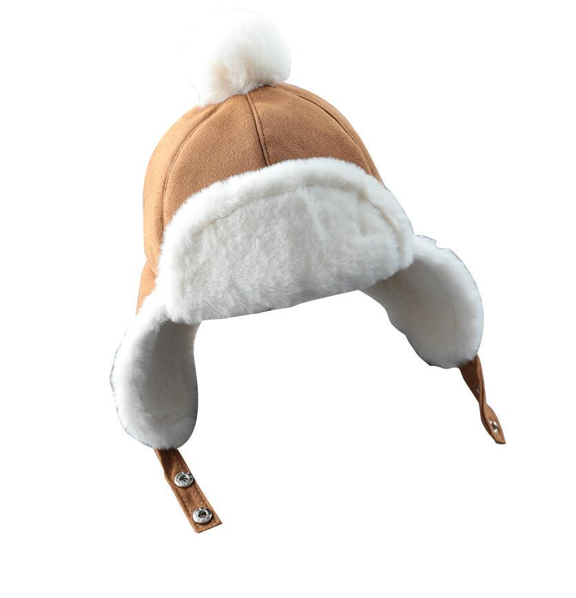 Chapéu do bebê Outono e inverno Proteção de orelhas de orelha de bebê Cap Boy's Lei Feng Chapéu 0 versão coreana 1-3 anos de idade 2 crianças 4 meninos 46-51cm