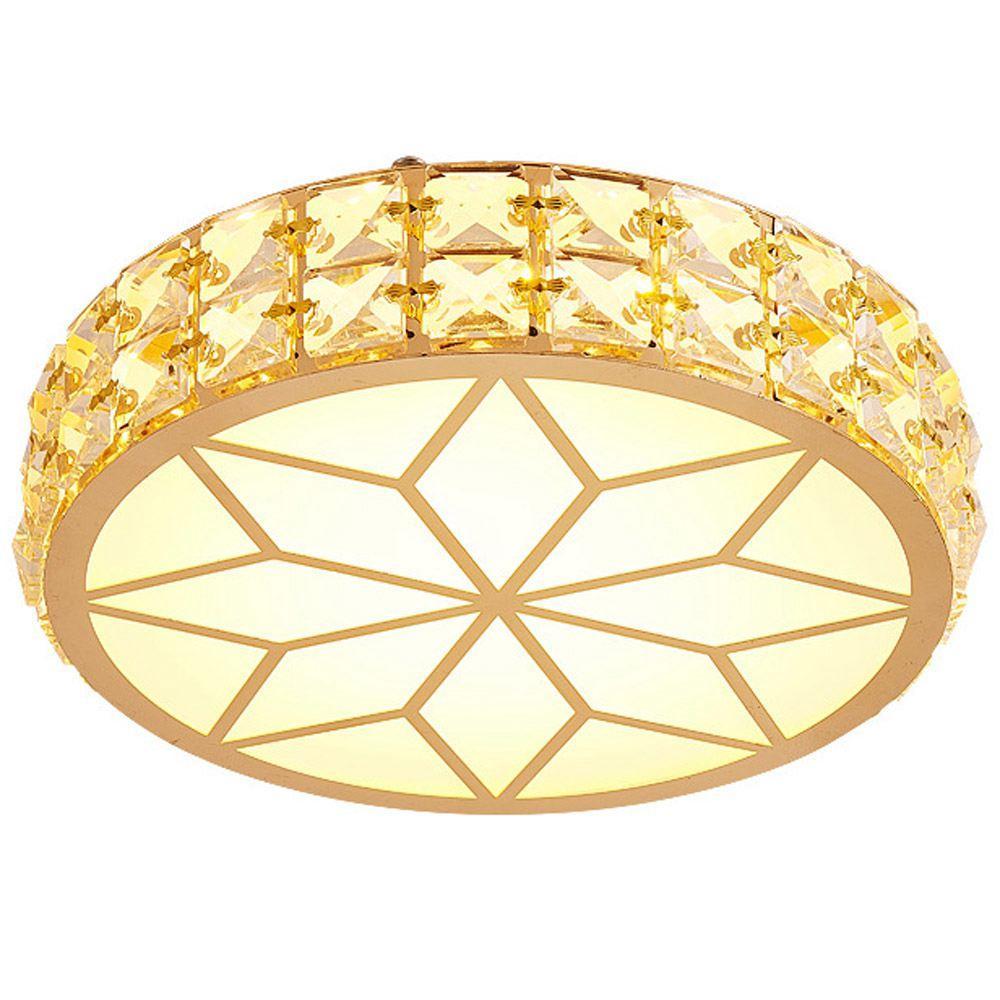O cristal moderno conduziu o corredor da luz do teto do quarto do teto redondo Válvio de vidro semi-lavado alpendre alpendre Lâmpada montada na lâmpada