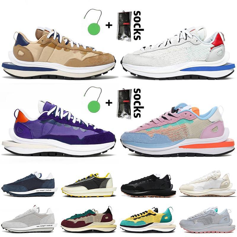 Nike Sacai Waffle LDV Pegasus Vaporf Mulheres Homens Running Shoes Sacais Nylon Branco preto Funcionamento Shoes NYC Chunky Dunky treinadores desportivos sneakers