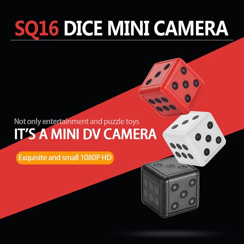 Cámara SQ16 HD 1080P Mini cámaras Dados Cam Motion Video Video Video Videocámara inalámbrica Acción Night Vision Recorder