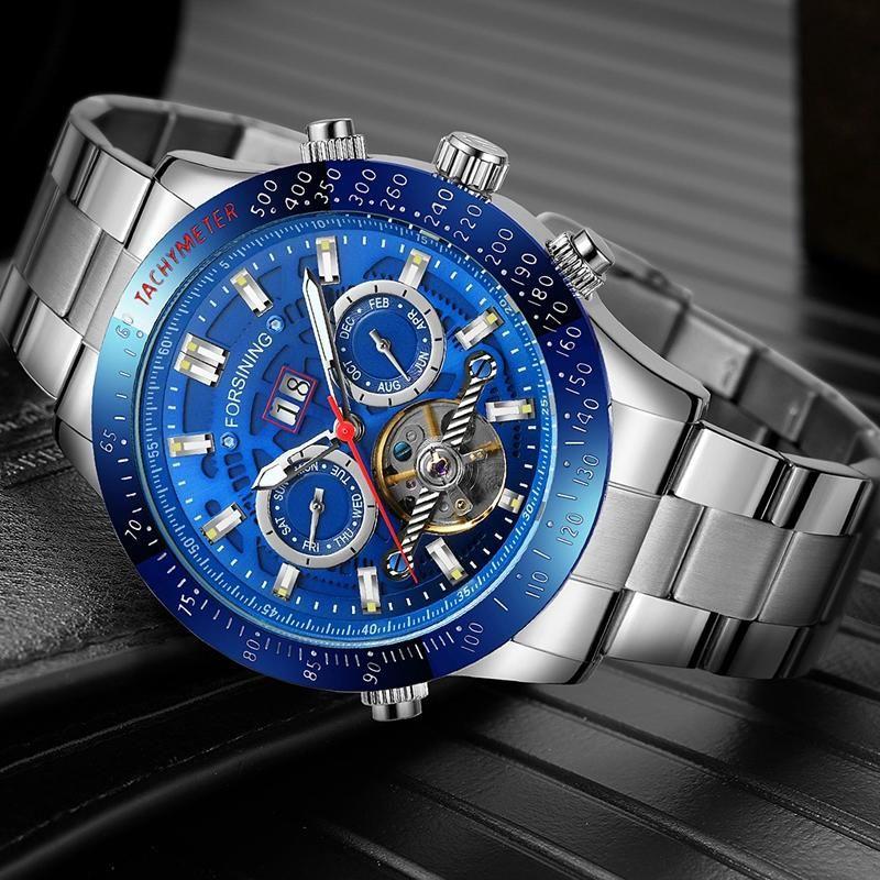 Forsining Mecanical Watches Mens Reloj automático de pulsera para los hombres TOP TOURBILLON RELOJES HOMBRE WRISTWATSES