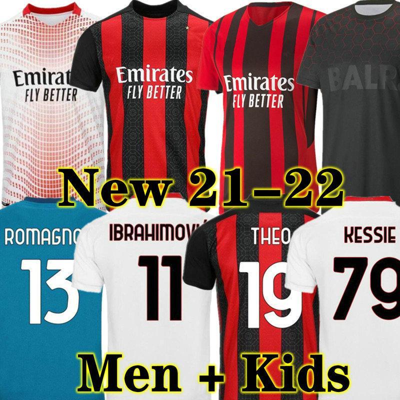 Ibrahimovic 21 22 الصفحة الرئيسية كرة القدم جيرسي لاعب نسخة المشجعين 2021 2022 بعيدا ثالث قميص كرة القدم الكبار الرجال + أطفال كيت