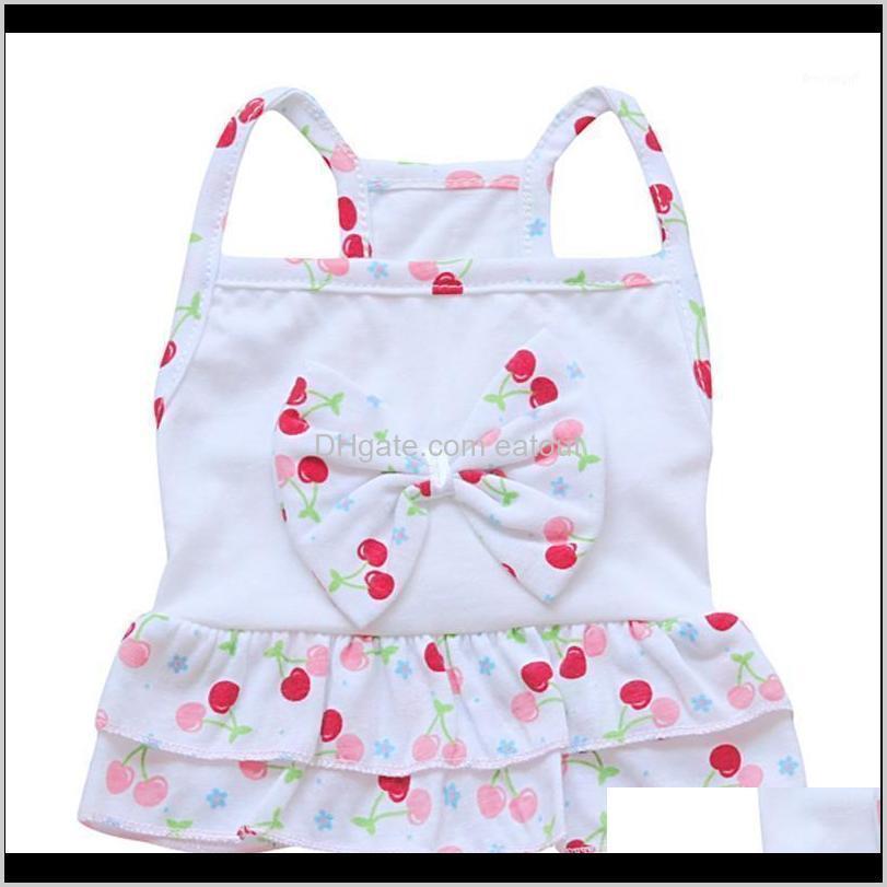 Apparel Pet Supplies Home & Gardenpet Dog Cat Summer Vest Camisole Dress Fruit Swimsuit Clothes Puppy Two-Layers Flouncing Skirt T-Shirt For