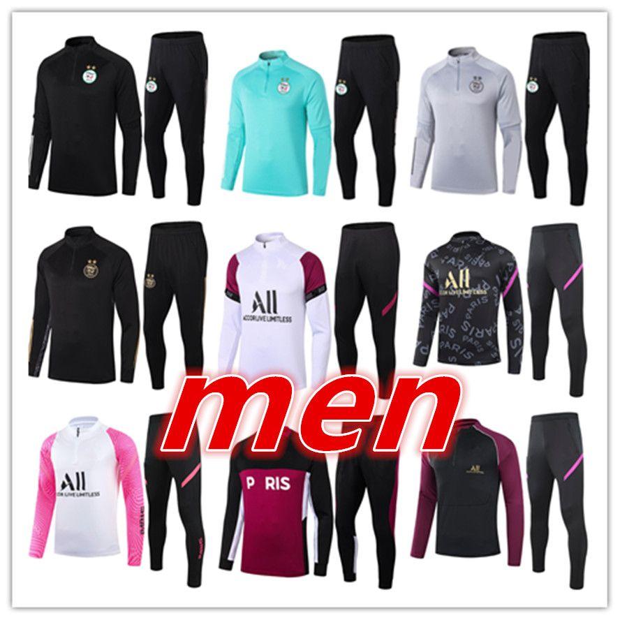 2021 Algerien Herren Fußball Trainingsanzug Fussball Training Anzug Kit 20 21 Herren Jogging Tracksuits Jacke