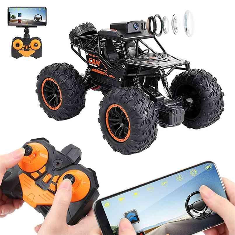 LBLA RC سيارة 2.4 جرام 720P WIFI FPV HD كاميرا SUV 1:18 الطرق الوعرة عالية السرعة التحكم عن بعد الانجراف سيارة تسلق سيارة لعب الأطفال 210830