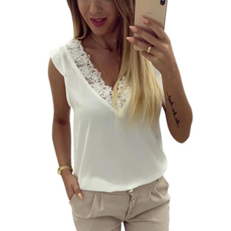 Mulheres sem mangas oca profunda v veste tops backless cor sólida verão camisa das mulheres blusas