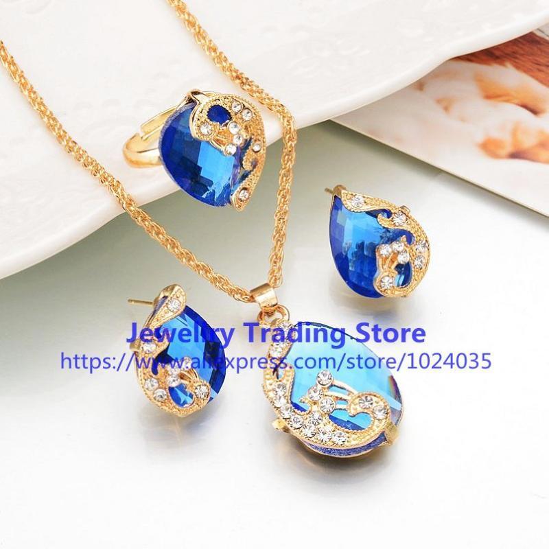 Серьги Ожерелье 100sets / Лот Мода Женщины Платье Ювелирные Изделия Для Гробного Хрустаства