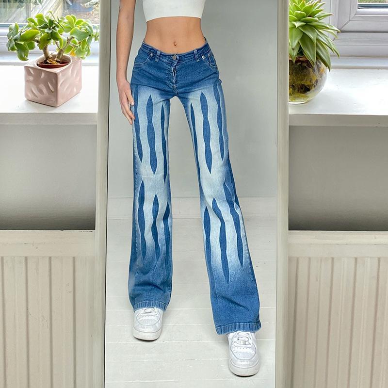 Jeans Mujeres Femme Y2K mujer holggy High Cintura 2021 Pierna ancha Invierno Mamá Denim Vintage Gran Streetwear Tallas Pantalones estéticos Kawaii