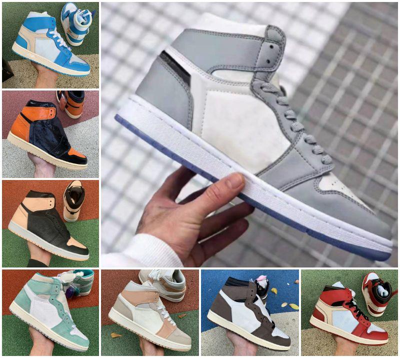 2021 عالية 1 og gs x الرجال أحذية كرة السلة عشبي asg unc قرمزي تينت الخوف المحظورة الرؤوية 1 ثانية شيكاغو الأبيض رمادي المرأة الرياضة مصمم الأحذية