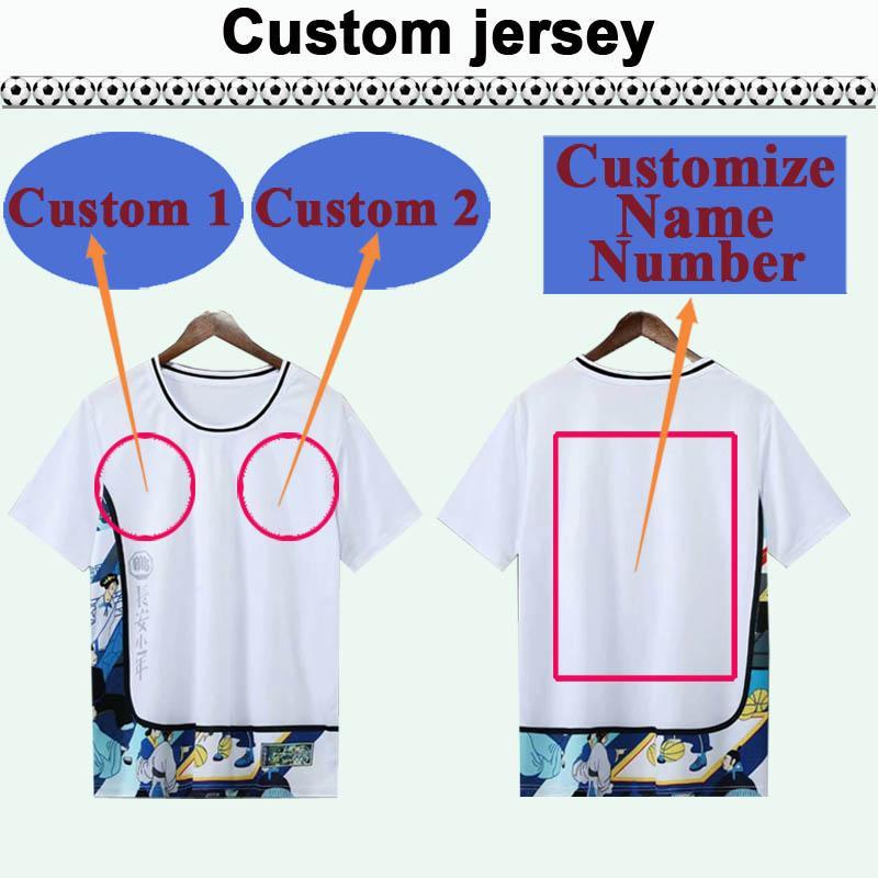 Custom National Team Club Mens Soccer Jersey Top Vous pouvez personnaliser les chemises de football design et le numéro tels que Shanxi