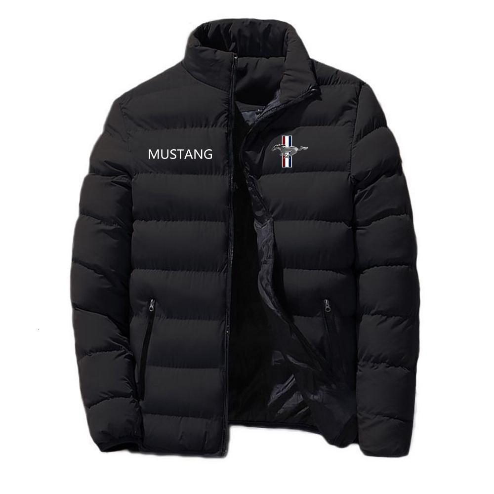 Piumino in piumino Down Jacket2021 Giacca da uomo Mustang Giacca da uomo con cerniera comodo Abbigliamento in cotone inverno caldo stile classico stile maschile
