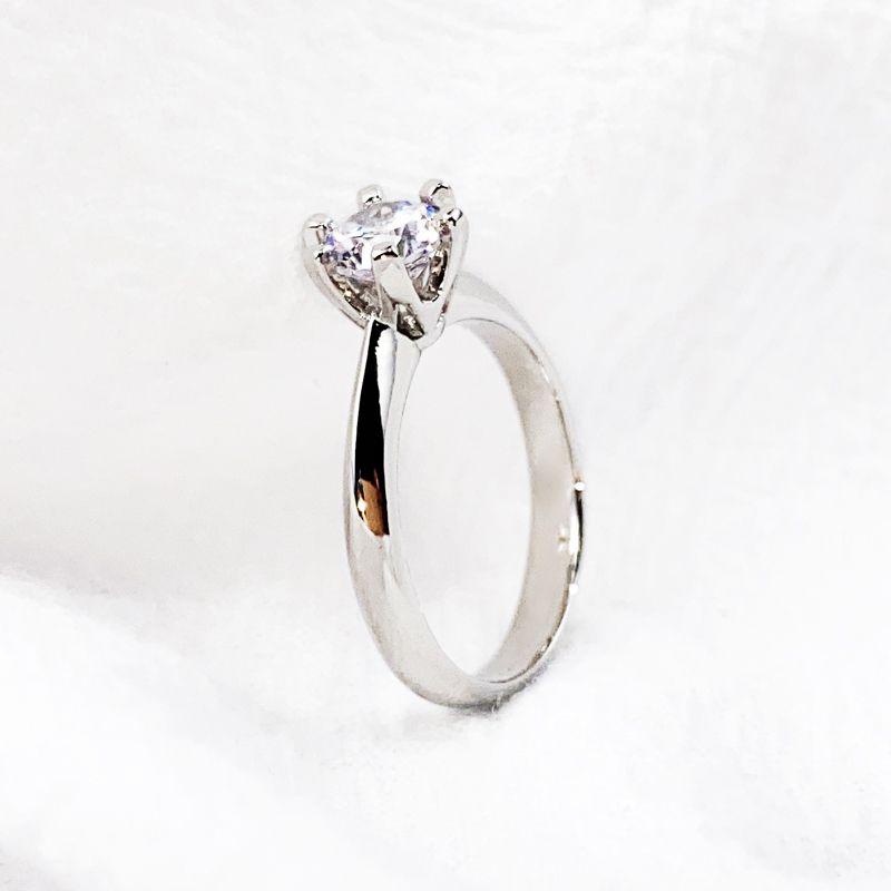 تصميم كلاسيكي سحر خواتم الزفاف امرأة وعد الأبدي الحب الزركون الدائري للنساء الأزياء لذيذ الاشتباك المجوهرات بالجملة 2 اللون الفضة روز الذهب مع مربع