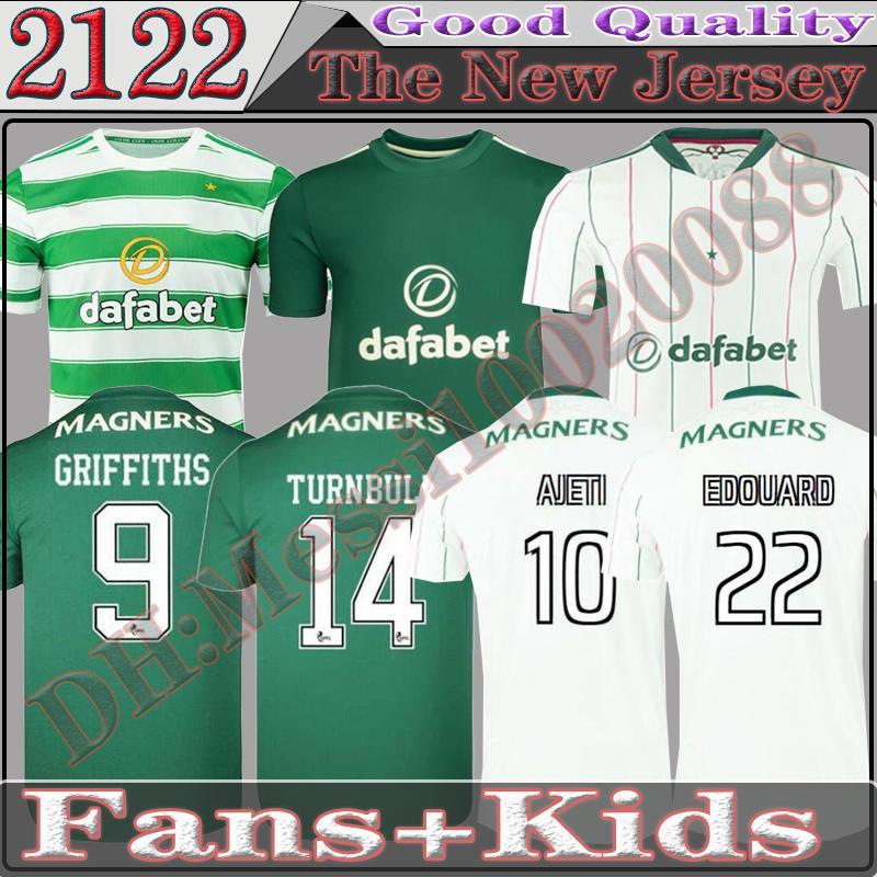 21 22 سلتيك كرة القدم جيرسي الرئيسية # 8 كيوجو إدوار إليونوسي الأحجار بيخيتال قميص أخضر كرة القدم الرجال الثالثة الأبيض 2021 2022 زي كرة القدم الكبار