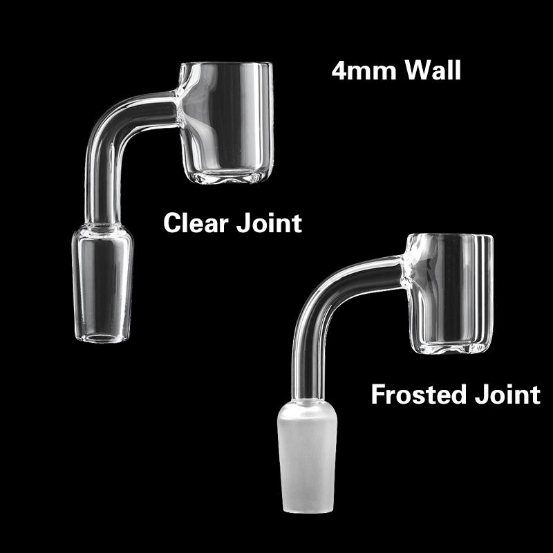 Beracky 4mm Flat Top Smoking Quartz Banger Nail 10mm 14mm 18mm Male Female 45 90 Nails For Glass Water Bongs Oil Dab Rigs