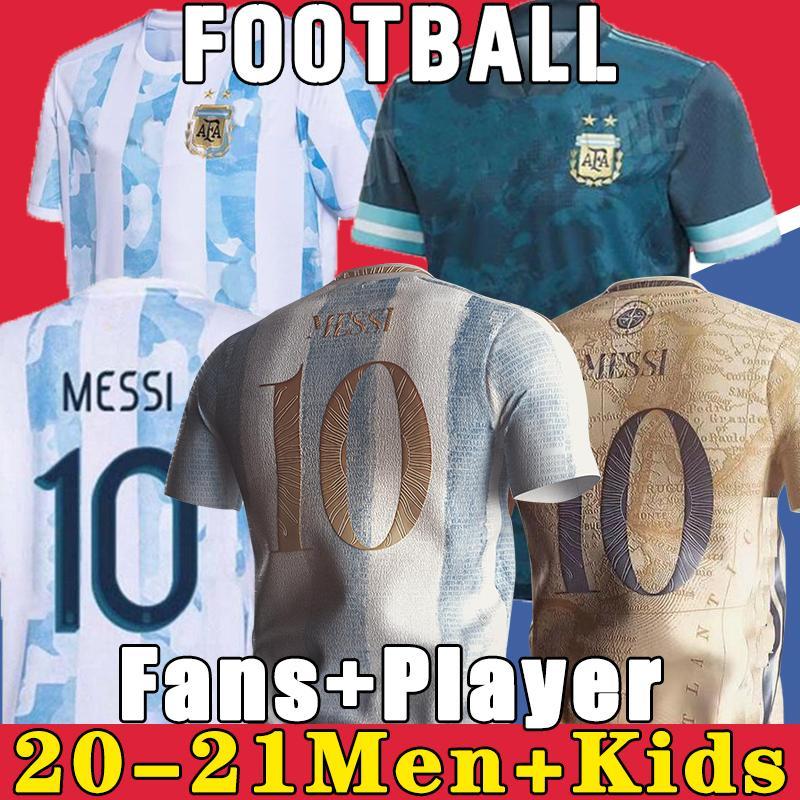Argentinien Fußball Jersey 2021 Copa America Messi Dybala Aguero Football Hemd 1978 1986 Maradona Home Retro 1981 BOCA Juniors 87 88 Neapel Napoli