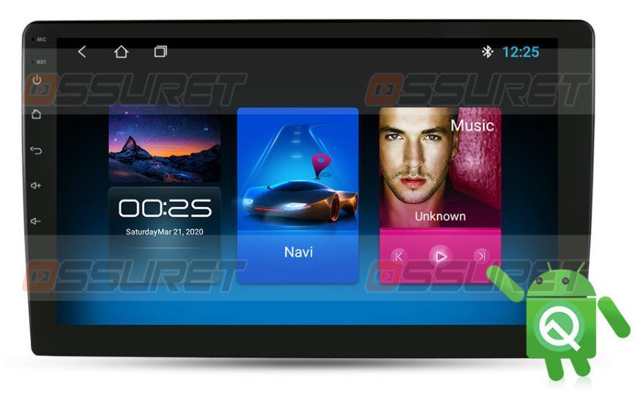 9inch écran tactile 2G 16G ROM Android 10 2Din Universal Auto Radio GPS Navigation Quad Noyau Support Volant Volant DVD DVD
