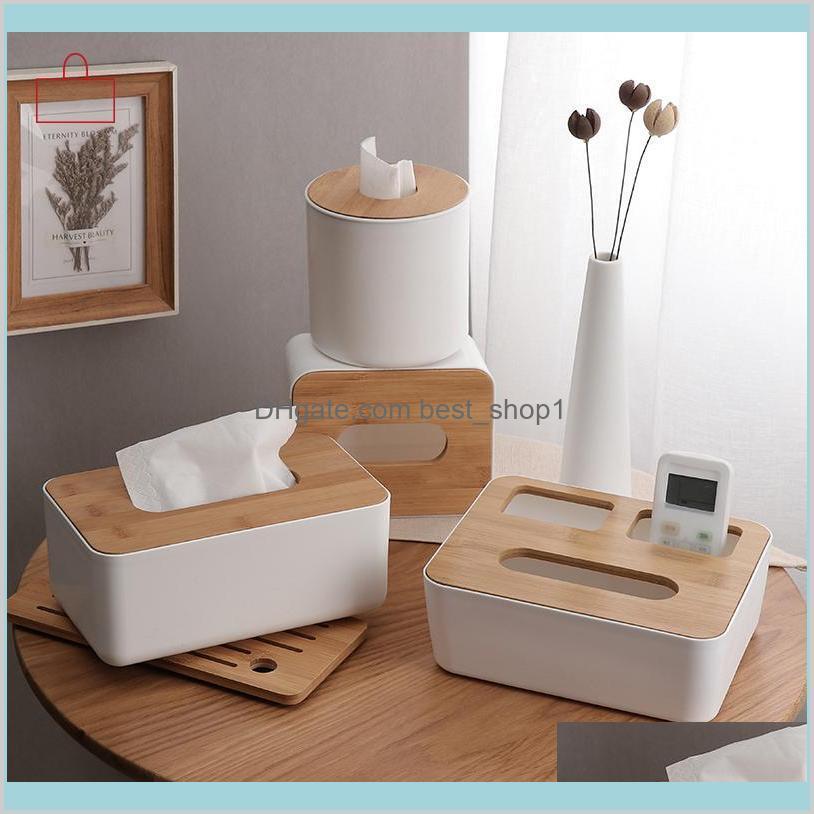 Jardin Cuisine Salle à manger Bar table Décoration Accessoires Boîtes Serviettes Rschef Boîte en plastique en bois en bois Solide Porte-serviettes en bois Solde SUNFC7B