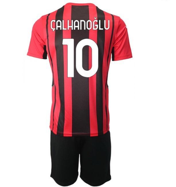 21-22 11 Ibrahimovic Anpassade fotbollströjor med shorts 10 Calhanoglu 56 Saelemekers 79 Kessie 3 Maldini 4 Bennacer Custom Jerseys Cheap