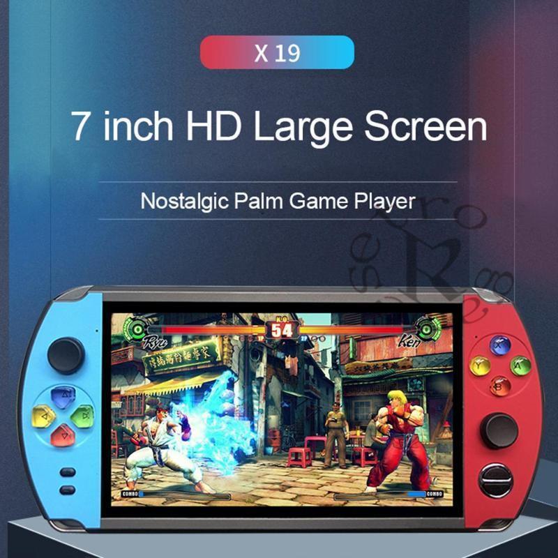 POWKIDDY X19 Oyun Konsolu Klasik Narin FC CPS Neogeo Retro El Mini Cep Video Oynatıcı Taşınabilir Oyuncular