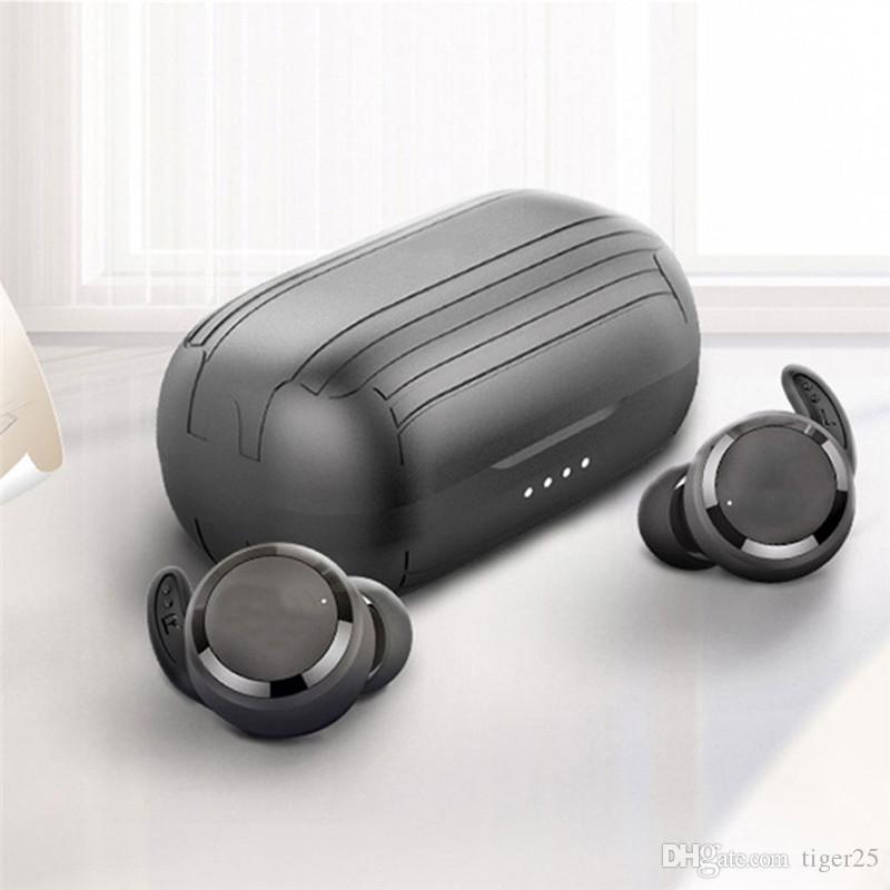 Fones de ouvido tws verdadeiros sem fio bluetooth fone de ouvido caixa de carregamento fones de ouvido esporte