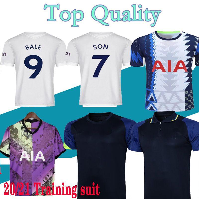 21 22 Kane Son Bergwijn 축구 유니폼 2122 Lucas Spurs Dele Tottenham 축구 셔츠 베일 Ndombele 남자 키트 훈련 정장