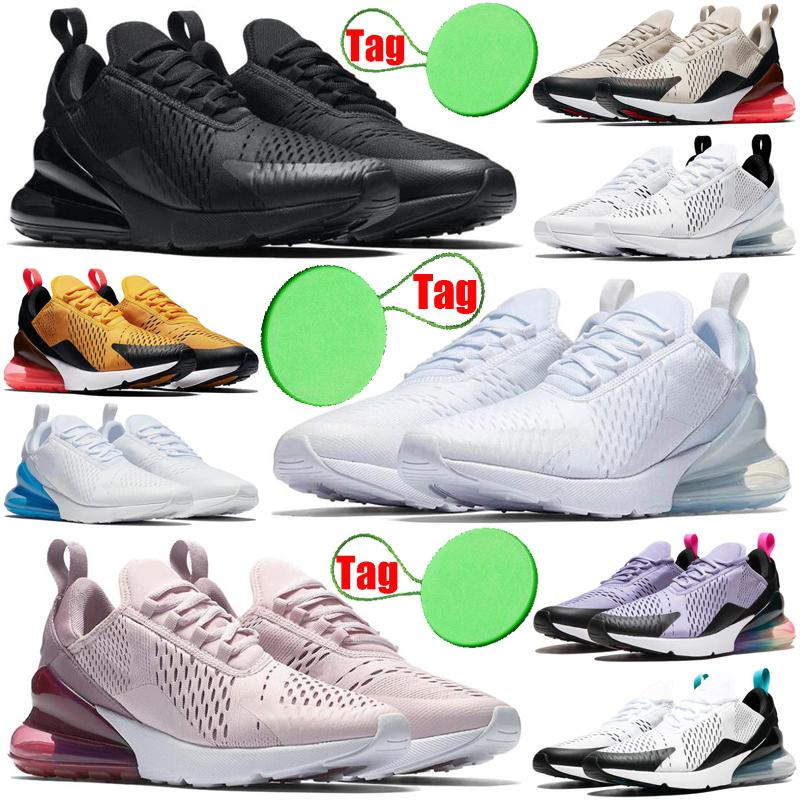 air max airmax 270 men women running shoes triple black white USA cactus outdoor mens womens trainers sports sneakers runners size 36-45