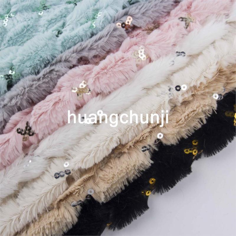 Fabric fashion plush embroidered wafer clothing scarf cushion shoes home service crafts faux fur fabric 160*180cm/pcs1 ZL8Z