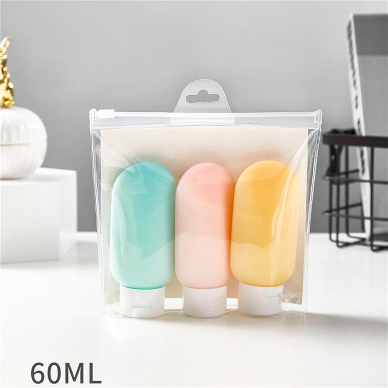 Garrafa de embalagem cosmética de 60ml prática conjuntos de sub-engarrafamento de sub-engarrafamento de mangueira caixas de armazenamento