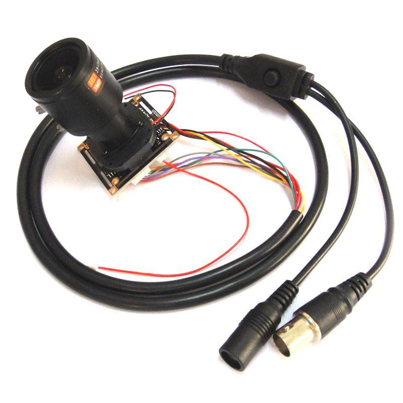 """Cámaras HD 1080P AHD 1 / 2.9 """"Sony IMX323 + NVP2441 Starlight Módulo de cámara de CCTV de baja iluminación PCB, 2,8-12 mm Lente"""
