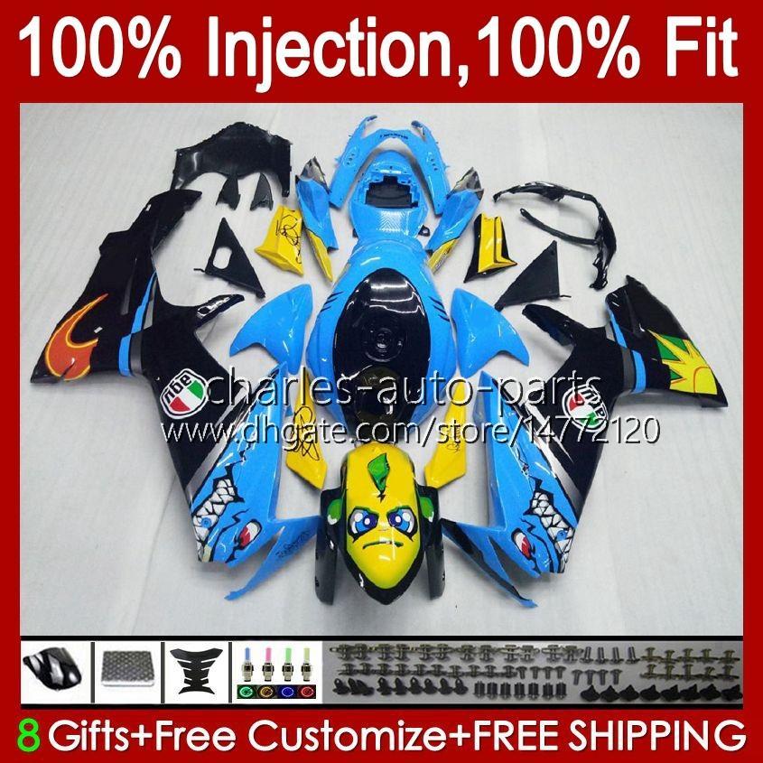 Iniezione per SUZUKI GSXR 600 750 cc K11 GSXR-600 600CC 750CC 10HC.0 GSXR750 11 12 13 14 15 16 16 17 GSXR-750 GSXR600 2011 2012 2012 2013 2015 2016 2017 fely Sharks Blue