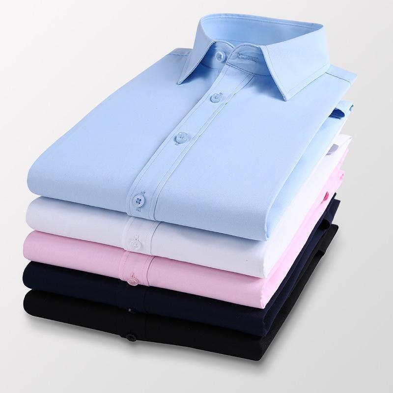 2021 camisa de manga larga para hombre primavera otoño otoño ocio coreano slim fit t s sólido color moda