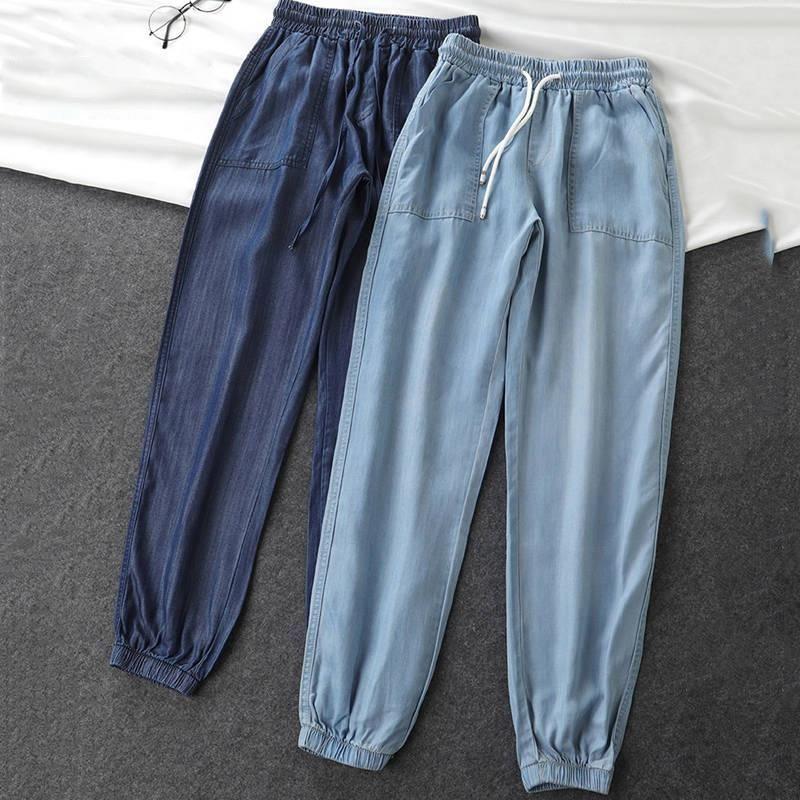 Sommerhosen Frauen Hohe Taille Lose Harem Hose Sweatpants Streetwear Casual Hose Damen Capris