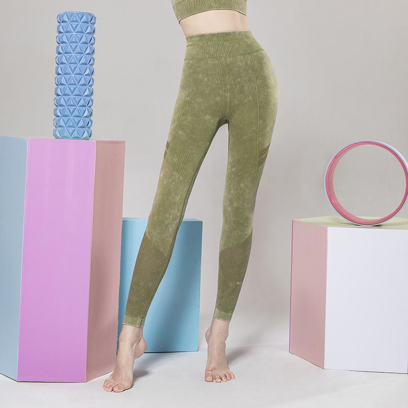 Novo europeu e americano sem costura yoga calças sportswear sportswear fitness calça alta estiramento camuflagem alta cintura malha