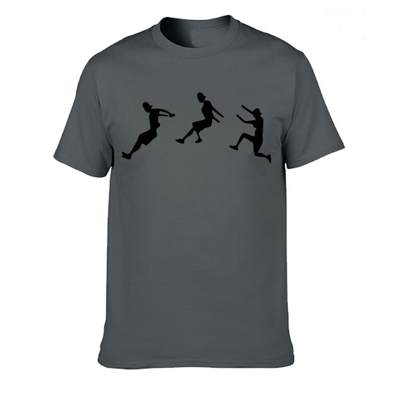 Erkek T-Shirt Kişilik Sokak Spor Parkour Komik T Shirt Erkekler Yaz Pamuk Harajuku Kısa Kollu O Boyun Streetwear T-Shirt Tops XS-3XL